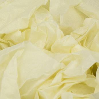 Папиросная бумага тишью светло-желтая 50 х 70 см