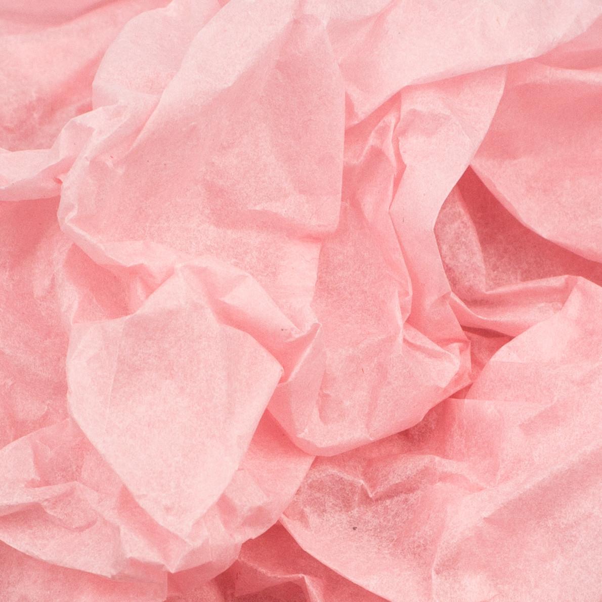 Папиросная бумага тишью розовая 50 х 70 см