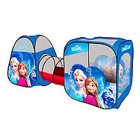 Палатка детская с тоннелем Холодное Сердце