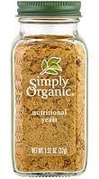 Simply Organic, Organic, Nutritional Yeast,Натуральные органические пищевые дрожжи 1.32 oz (37 g)