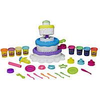 Игровой набор Play-Doh 8 банок 2 в 1 Праздничный торт  2-in-1 Sweet Shoppe Cake Mountain Playset