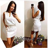 Молодежное льняное платье (6)