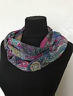 Легкий шифоновый хомут шарф