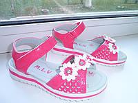 Детские босоножки на девочку розовые с цветком р 27,29,32