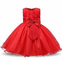 Шикарное нарядное пышное платье красное для девочки (на утренник, на фотосессию, на день рождения р. 5-6 лет