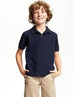 Детская футболка поло синего цвета Old Navy для мальчика