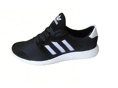 Женские летние кроссовки Adidas  черный