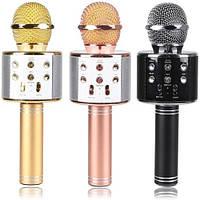 Микрофон караоке WS-858 с колонкой блютус