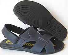 Мужские босоножки  в стиле Timberland  синие кожаные сандали сандалии обувь лето