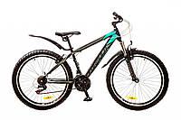 """Велосипед 26"""" Formula NEVADA AM 14G Vbr рама-16"""" черно-бирюзовый (м) с крылом Pl 2017"""