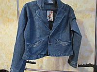 Элегантный джинсовый женский  пиджак р48-50