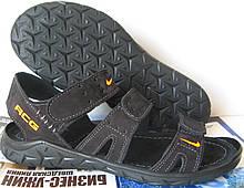 Nike кожаные мужские в стиле Найк сандалии 3 полоски сандали босоножки обувь