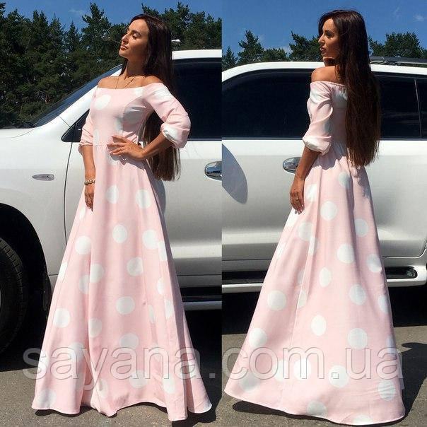 Женское красивое платье в пол
