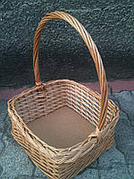 Подарочная корзина из лозы с ручкой и фанерным дном, фото 1