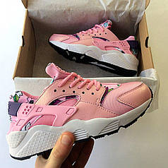 Кроссовки женские Nike Air Huarache Wmns Print Pink топ реплика