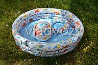 Детский надувной бассейн 3 кольца мяч, круг 59469