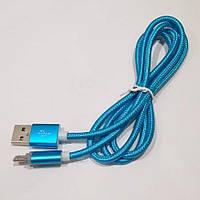 Micro USB кабель с подсветкой синий 1м. Лучшее качество!, фото 1