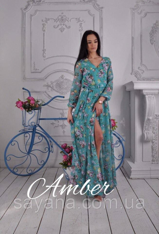 Женское красивое платье в пол в расцветках. И-23-0417