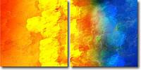 """Модульная картина """"Диптих. Море и солнце""""  (530х1080 мм)  [2 модуля]"""
