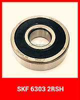 Шариковый радиальный подшипник однорядный 6303 2RS SKF 17*47*14