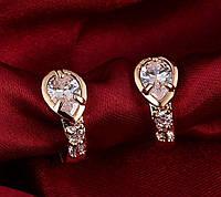 Серьги женские позолоченные Brinco Earing