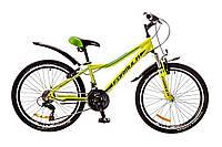 """Велосипед 24"""" Formula FOREST AM 14G Vbr рама-12,5"""" лайм с крылом Pl-EF500 2017"""