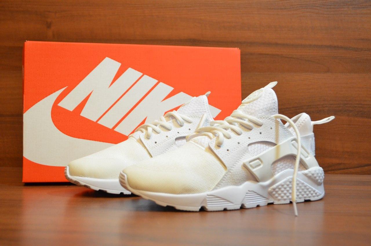 Женские кроссовки Nike Air Huarache Ultra White топ реплика