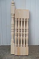 "Деревянная балясина-столб из Дуба ""Простая двухсторонняя"""