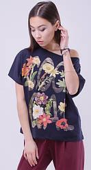 Женские футболки однотонные, с принтом, аппликацией