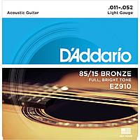 Струны для акустической гитары D'addario EZ910 85/15 11-52