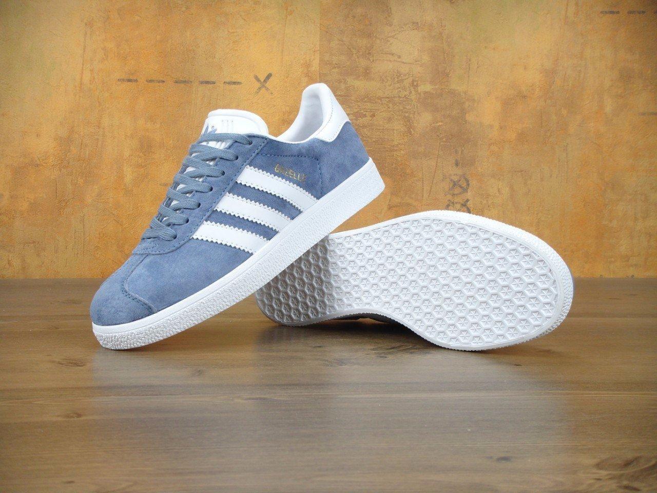 Женские кроссовки Adidas Gazelle Blue синие топ реплика