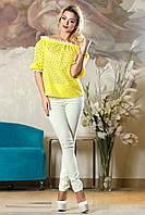 Модная кружевная блуза 2138 44–50р. в расцветках, фото 1