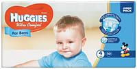 Подгузники Huggies Ultra Comfort для мальчиков 4 (7-16 кг) Jumbo Pack, 50 шт.