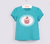 Детская футболка с принтом на груди
