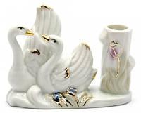 Лебеди пара подставка для зубочисток фарфор (9х7х4 см)