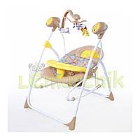 Колыбель-качели 3 в 1 (качель-шезлонг-стульчик для кормления) Baby Tilly BT SC 005 желтый