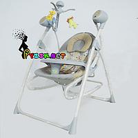 Колыбель-качели 3 в 1 (качель-шезлонг-стульчик для кормления) Baby Tilly BT SC 005 серый