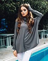 """Женский трикотажный свитер свободного кроя """"Colias"""" с рукавом летучая мышь (2 цвета)"""