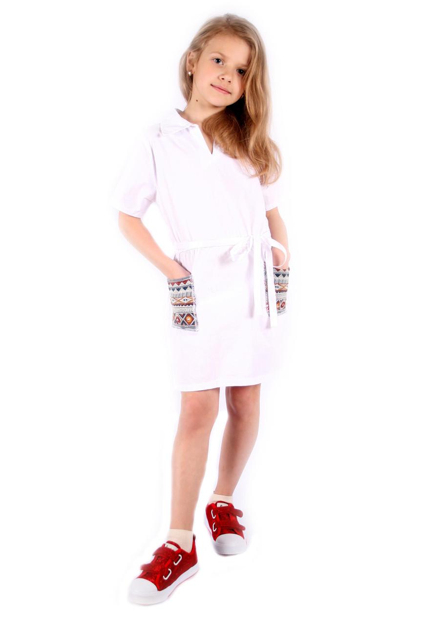 Стильне плаття з вишивкою на дівчинку Італія 4-14 розмір