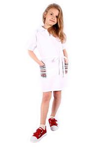 Стильное платье с вышивкой на девочку Италия 4-14 размер