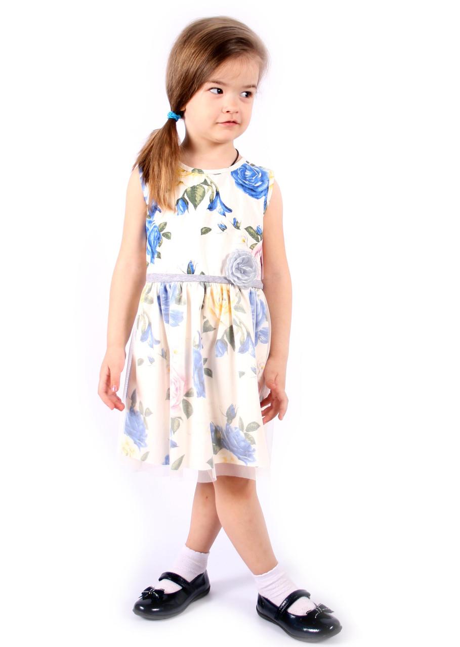 Платье на девочку с цветочным принтом. Италия 2-12 размер