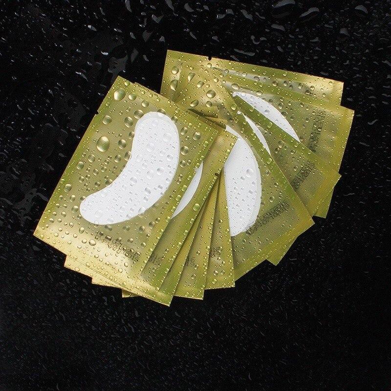 Гидрогелевые патчи для изоляции ресниц в золотой упаковке