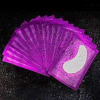 Гидрогелевые патчи для изоляции ресниц в фиолетовой упаковке