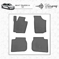 Комплект резиновых ковриков Stingray для автомобиля  SEAT TOLEDO IV 2012-     4шт.