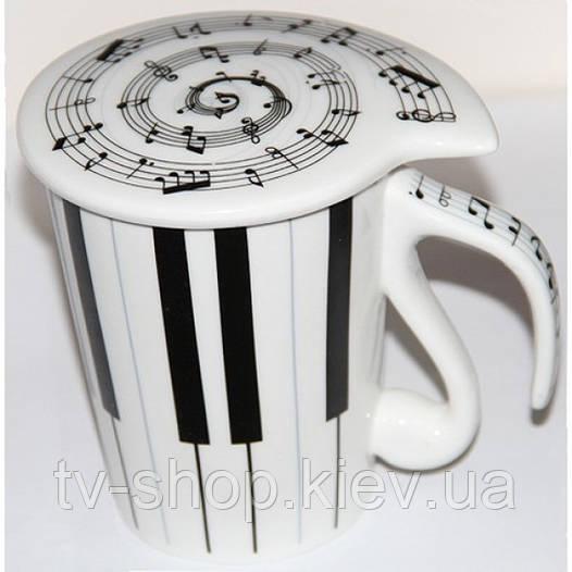 """Чашка """"Music"""" с крышкой (3 вида)"""
