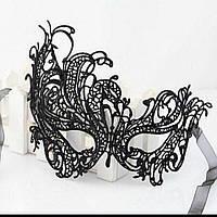 """Ажурная женская карнавальная маска """"Vintage"""" на завязках (2 цвета)"""