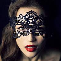 """Ажурная женская карнавальная маска """"B&H """" на завязках"""