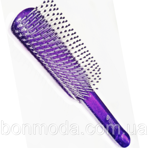Расческа для волос силиконовая SALON Professional 1880 A фиолетовая
