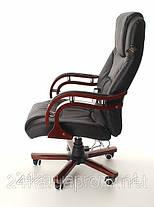 Офисное массажное кресло PRESIDENT с подогревом черное, фото 3