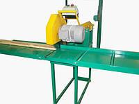 Торцовочный станок для поперечной раскройки доски и бруса, подача пилы осуществляется вручную ЦП-4